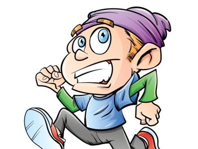 Running boy funny vector adobeillustrator illustrator illustration cartoon