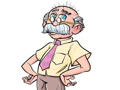 Cute Cartoon Professor cute fun character adobeillustrator illustrator vector illustration cartoon