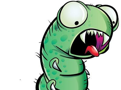 Killer worm character funny adobeillustrator vector fantasy illustration adobe