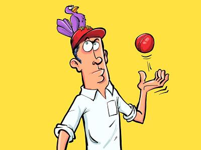 Not cricket funny adobeillustrator illustrator vector illustration cartoon