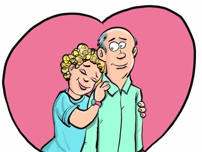 Couple in love adobeillustrator illustrator vector illustration cartoon