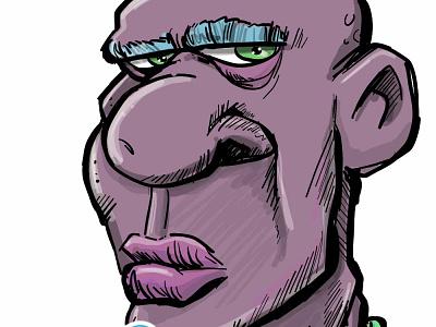 Purple face fun adobe humour illustrator illustration cartooning