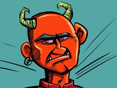 Devil man adobeillustrator illustrator illustration cartoon