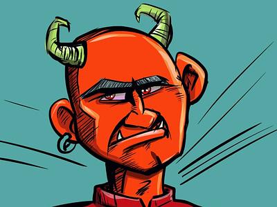 Devil man adobeillustrator illustrator illustration cartoon