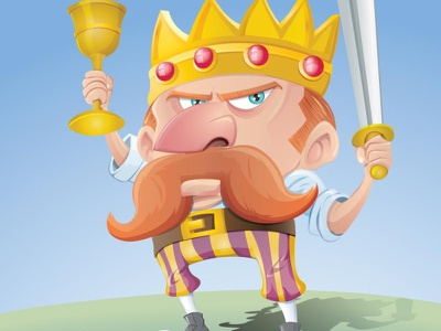 King cartoon created in vectors cute fantasy adobe character humour adobeillustrator illustrator vector illustration cartoon