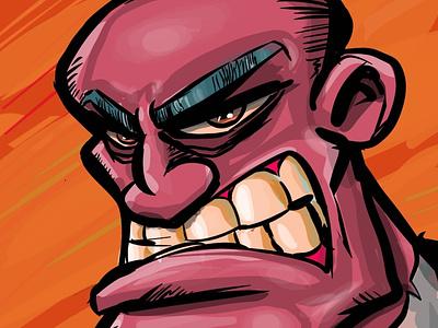 Evil and mad design character adobeillustrator illustrator vector illustration cartoon