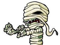 Cartoon Mummy stalking