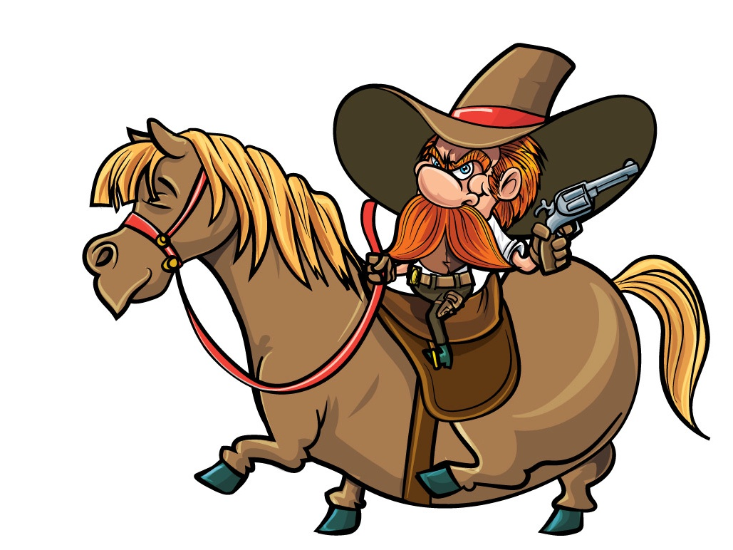 Cute Cartoon Cowboy On His Horse By Anton Brand Dribbble Dribbble