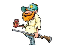 Cartoon redneck