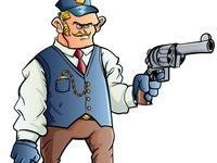 Cartoon Western  Ticket Puncher