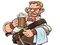 Cartoon Western Bartender