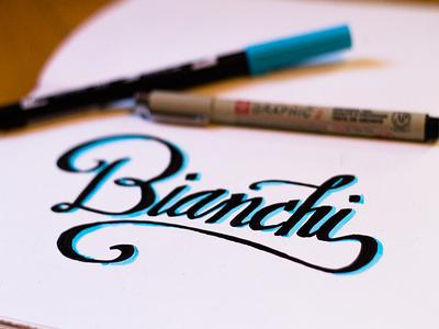 Bianchi Lettering