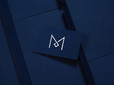 Brand Identity M foil stamp print design business card clinic brand identity branding design logodesign logo design symbol logo branding icon graphic design oksalyesilok design oksal yesilok