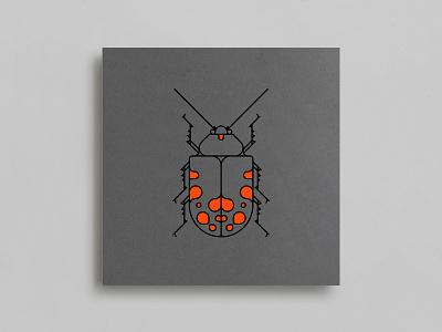 Coleoptera Beetles oksal yesilok handpainted airbrush vector poster design poster neon illustration design beetle