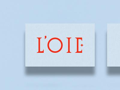 L' O I E 🥄 patisserie branding design logotypedesign loie logo design business card logotype design logotypes logotype logo typography branding oksalyesilok oksal yesilok design