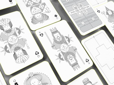 Whimsical Playing Arts | First Edition print design product design graphic design design art board games queen king playing cards character design conceptual redesigned board game playing arts playingcards playing card branding oksalyesilok illustration design oksal yesilok
