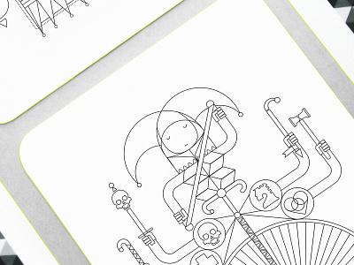 Whimsical Playing Arts | Jack print design minimalism board game symbol icon design deck graphic design product design playing cards playing arts playingcards playing card symbol symbolism icon oksalyesilok illustration design oksal yesilok