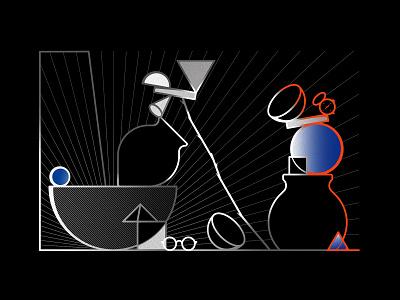 Unbalanced Still-life Illustration shadow illustration digital poster art still-life still life stilllife oksalyesilok symbol poster graphic design vector design illustration oksal yesilok