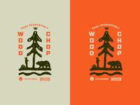 Woodchop Carving Workshop Event Illustration