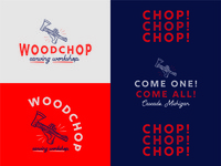 Woodchop Carving Workshop Event Logo