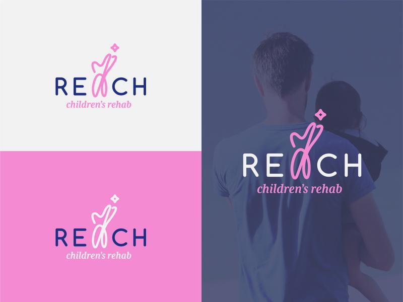 Reach Children's Rehab hospital logo children design children art childrens art childrens design icon event branding creative art vector logo typography illustration design logodesigner logodesign customlogo branding branddesign