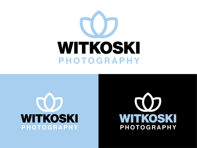 Witkoski Photography Logo art creative vector typography design customlogo branding branddesign logo photography logo logo designer logo design