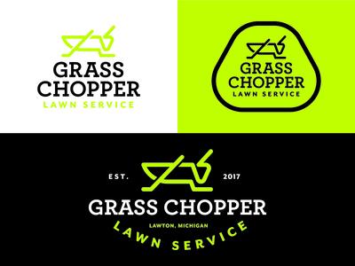 Grasschopper Lawn Service Branding