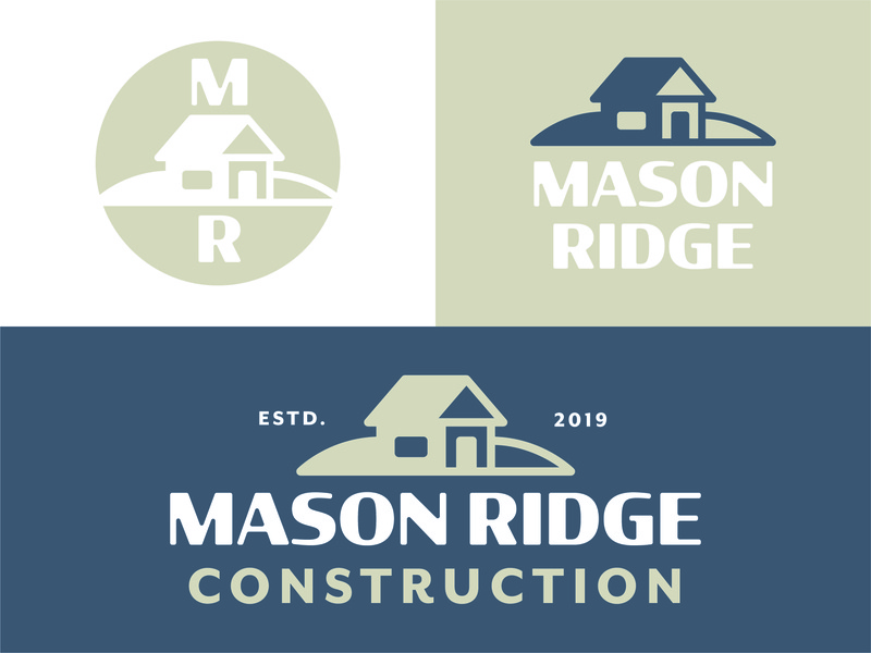 Mason Ridge Construction vintagedesign art vector creative branddesign typography customlogo design illustration branding logotype logo designer logo logo design construction graphic design construction logo