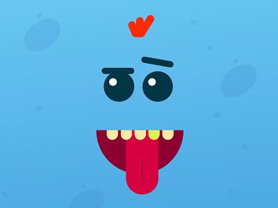 Existence is pain - Meeseeks blue web rick icon vector rickandmorty meeseeks illustration flat branding minimal design