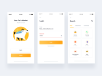 Petshop App + Free UI kit + 1 Dribbble Invite