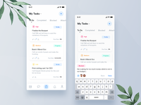 Tarea - Manage Event Tasks UI   +  2 Dribbble Invite