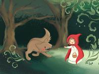 Little Red Riding Hood Children's Book Illustration book design illustration kidlitillustration kidlitart children book illustration