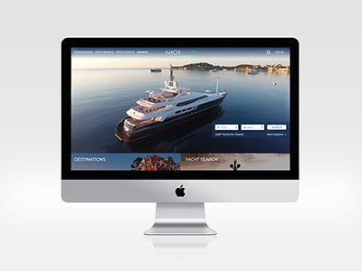 Ahoy Club Home Page search bar ui design ux design web design home page ui ux