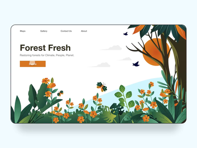 Forest Fresh Website Concept