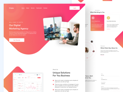 Digital Marketing Agency Web UI
