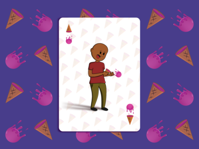 Ice Drop - Playing Card