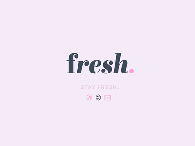 Finalized logo + Landing page   Fresh. serif typography fresh branding identity mark logo design