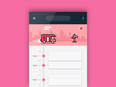 Pull down to refresh_Freebie fun loading truck cool refresh pull pulldown animation freebie aftereffect ae flat