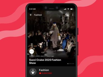 YouTube Fashion mobile style beauty fashion gif animation interaction uxui ui ux google design google youtube