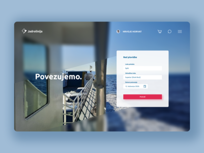Redesign of Jadrolinija website website design ux ui design