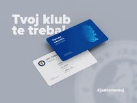 Membership card of the local football club HNK Jadran branding icon logo vector illustration gradient local design card