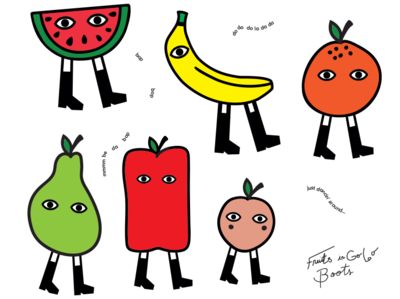 Fruits in GoGo Boots