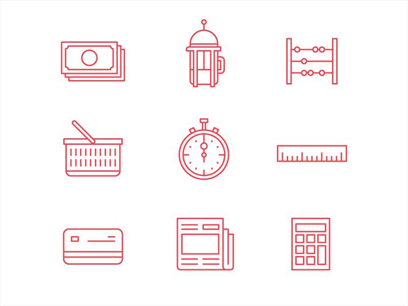 Vodafone icons illustration