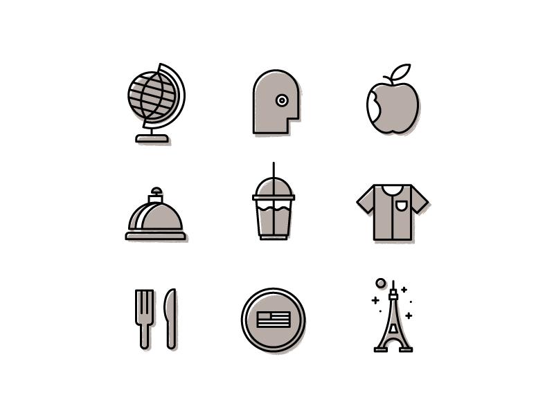 Travel + Leisure illustration icons spot illustrations