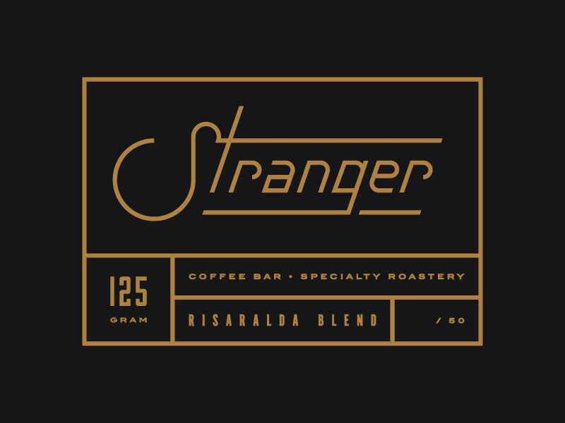 Stranger Risaralda blend label branding label packaging logo coffee