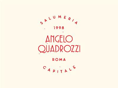 Angelo Quadrozzi logo type butchery deli salumeria