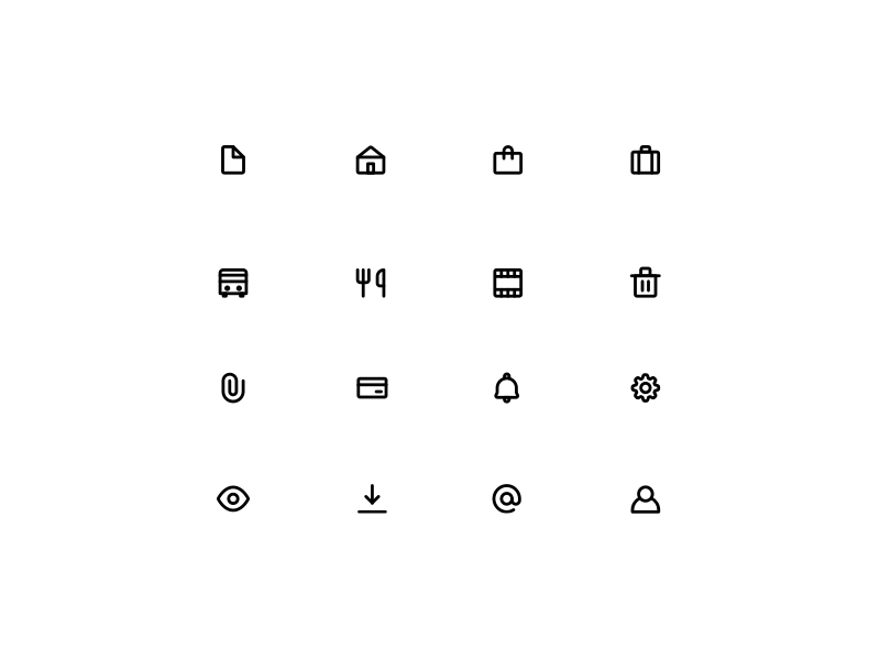 Dribbble roger icons