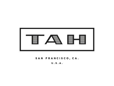 TAH logo type typography