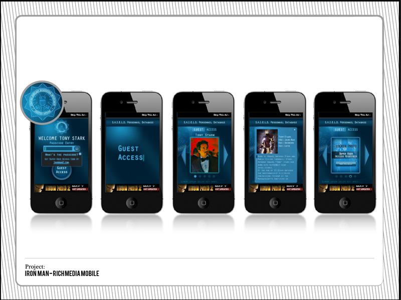 Iron Man Rich Media Ad visual design mobile design ui icons
