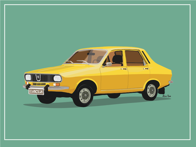 Dacia 1300 - Car Illustration vector romanian dacia 1300 dacia illustration car retro